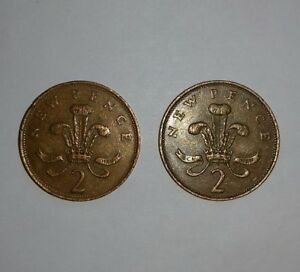 RARE 2× 2p COIN - NEW PENCE. 1971 & 1981.