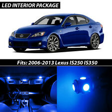 2006-2013 Lexus IS250 IS350 Blue Interior LED Lights Package Kit