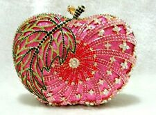 Pink~ Apple~ Gold / Multi-Color Handmade Austrian Crystal Evening Clutch Bag
