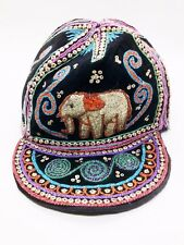 Hat Cap V.1 Fabric Handmade Elephent Accessory Thailand North Sewing Embroidery