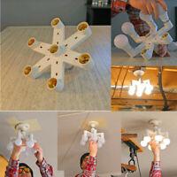 Bulb Base Adapter Light-Bulb Splitter Lamp Bulb Socket丨7-in-1 E27 Base LED White