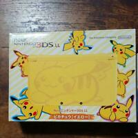 NEW Nintendo 3DS LL XL Console Pikachu (Yellow) Pokemon Japan Limited Model