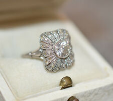 Platin Diamant Ring 1 ct. Art Deco ca. 1920 Jugendstil Solitär ca. 0,75 ct G VVS