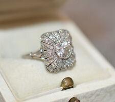PLATINO Diamante 1 CT. ART DECO circa 1920 Nouveau Solitario ca. 0,75 CT G VVS