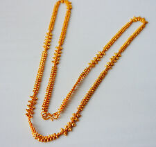 22k  gold plated indian bollywood fashion  chain necklace  jewelry U29  28 in