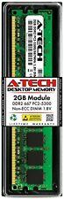 A-Tech 2GB PC2-5300 Desktop DDR2 667 MHz DIMM 240-Pin Non-ECC Memory RAM 1x 2G