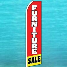 Furniture Sale Flutter Flag Tall Curved Advertising Feather Swooper Banner Sign