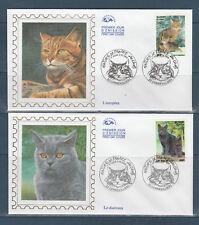 enveloppe   1er jour  nature de France  les 2 chats 92 Genevilliers   1999