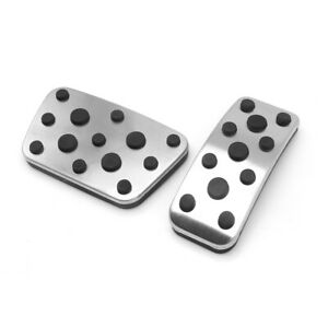 Vehicle Accelerator Gas Brake Pedal Cover Stainless Steel Pads For Lexus LX 2PC
