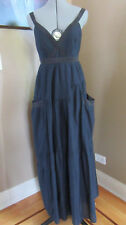 NWT  Marc by Marc Jacobs Tiered Cotton/Silk Navy Maxi Dress Size 4