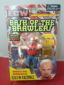 ECW OSFTM Bash Of The Brawlers Justin Credible Wrestling Figure w/trading cards