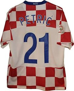 MATCH WORN??? #21 PETRIC 2008 CROATIA Football SHIRT Jersey NIKE size M Tricot