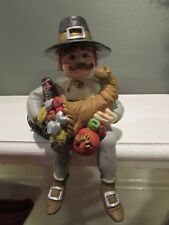 Shenandoah Shelf Sitter Keeper Of Thanksgiving 1994 Cornucopia Turkey Pilgrim