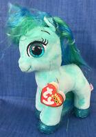 W-F-L TY Beanie Boos Topaz Pony Pferd blaugrün 15 cm Glubschi Boo´s