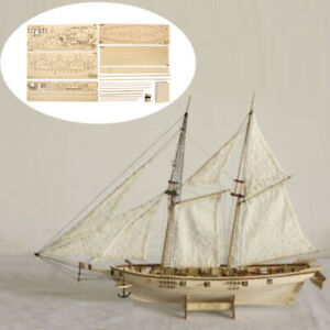 1:100 Halcon Wooden Sailing Boat Model DIY Kit Ship Assembly Kids Toy Gift UK