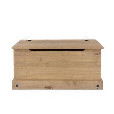Premium Corona Solid Pine Bedroom Range - Blanket Storage Box, Ottoman