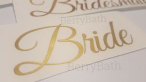 2x Personalised Custom name sticker vinyl decal bridesmaid bride wedding sticker