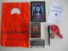 MICHAEL JACKSON RARE UK GHOSTS PROMO PACK BAG 1997 K7 AUDIO