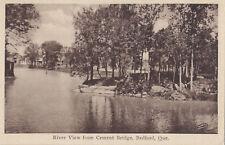 River View from Cement Bridge BEDFORD Quebec Canada 1920-30 Jarest Postcard