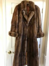 MAP FUR SABLE RUSSIAN 2018 BARGUZIN NEW Brown Grey coat M-L Light weight