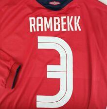 Norway Soccer XL Extra Large Anders Rambekk Umbro Longsleeve Football Jersey #3