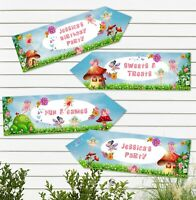 4 Woodland Fairy Personalised Party Arrows - Birthday, BabyShower, Christening