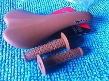 PACKAGE: BICYCLE SEAT GRIPS BROWN BMX ROAD FIXIE GEAR TRACK MTB CYCLING BIKES