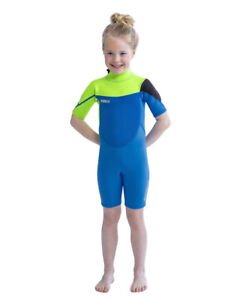 Jobe Boston Shorty 0 3/32in Lime Blue Wet Suit Child Waveriding New Surfing J20