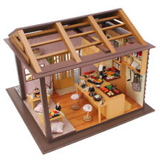 MagiDeal Diy Miniature Project Kit Wooden Dolls House Sakura Sushi Shop