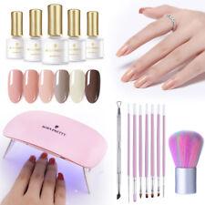 BORN PRETTY 16pcs/set UV Gel Nail Kit  Color UV Gel Polish LED UV Lamp Tools