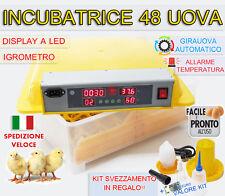 INCUBATRICE 48 UOVA PROFESSIONALE AUTOMATICA GIRAUOVA + KIT SVEZZAMENTO GRATIS!!