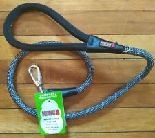 NWT KONG Rope Dog Reflective Padded Handle Leash Gray and Black 4 Ft.