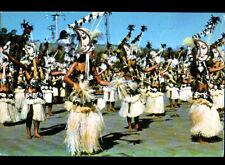 TAHITI (POLYNESIE) Concours / DANSEUSE & DANSEUR Groupe TEMAEVA costumé en 1970
