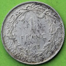 BELGIQUE 1 FRANC ALBERT 1913