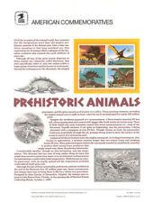 #338 25c Prehistoric Animals #2422-2425a USPS Commemorative Stamp Panel