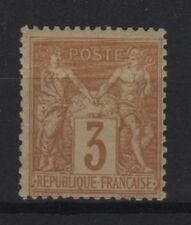 "FRANCE STAMP TIMBRE YVERT N° 86 "" SAGE 3c BISTRE SUR JAUNE "" NEUF xx TB  R682"