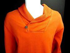XL GAP Sweatshirt Orange Pullover Button Collar NWT