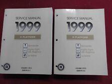 1999 Pontiac Bonneville/Buick LeSabre-Olds 88-Regency 2-Volume Set of Manuals