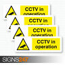 4 x CCTV STICKERS - CCTV In Operation Self Adhesive Vinyl Stickers 50mm x 150mm