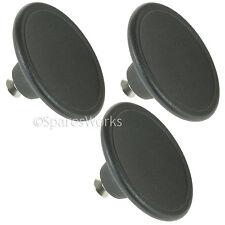 3 x 5.5cm Handle Glass Lid Knob For Le Creuset Casserole Pot Saucepan Lids Black