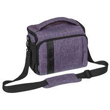Kameratasche Schultertasche XL SLR Foto Tasche Hülle Case mit Regenschutz, lila