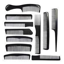 11pc spillo per capelli Styling pettine Set PROFESSIONALE NERO PARRUCCHIERI BARBIERI Tasca