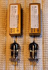 Electro-Harmonix Amplitrex Matched Gold Pair Two New 6922 6922Eh Gold Pin Tubes