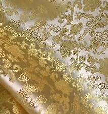 "Gold Dragon Brocade Fabric 45"" Width Sold By The Yard"
