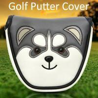 Husky Magnetic Closure Golf Mallet Head Covers PU Leather Putter Protector