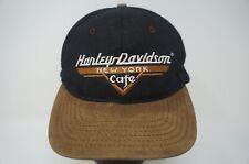 Rare VTG Harley Davidson New York Cafe Ride Free Snapback Hat Cap 90s Motorcycle