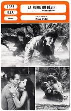 FICHE CINEMA : LA FURIE DU DESIR - Jones,Heston,Malden,Vidor 1953 Ruby Gentry