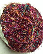 Recycled Sari Silk Hand-Spun Ball Himalaya Yarn Multi Color