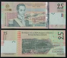 Haiti Paper Money 25 Gourdes 2004 UNC