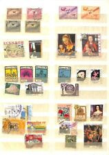 [OP1493] Ecuador lot of stamps on 8 pages